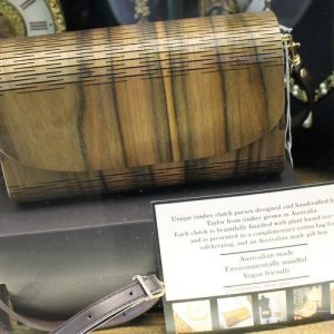 Australian Native Timber Clutch Purse with Strap