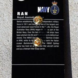 RAN – Officer Hat Badge