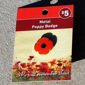 Poppy Badge – Red