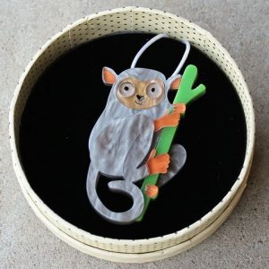 Erstwilder Brooch – Eyes Wide Open (Tarsier Lemur)