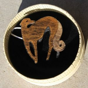 Erstwilder Brooch – Autumnal Symphony (Greyhound)