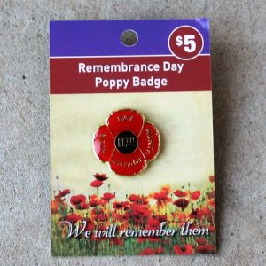 Rememberance Day Poppy Enamel Badge