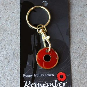 Red Poppy Key Ring