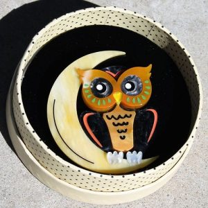 Erstwilder Brooch – A Moon With a View (Owl)