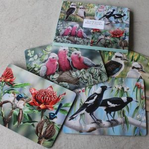 Australian Bird & Flora Placemat Set of Four