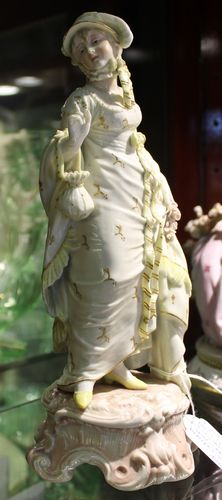 morpeth antique centre hunter valley shop 2 early european 1900's figurine yellow floral dress girl pottery ceramics