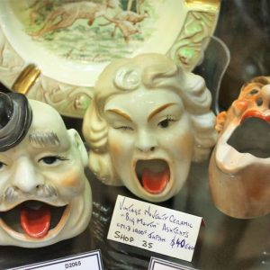 Novelty Ceramic Ashtray Trio