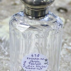 Edwardian Crystal Perfume Bottle
