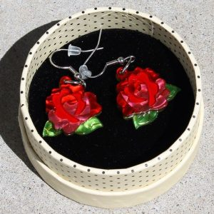 Erstwilder Earrings – Budding Romance Drop (Roses)