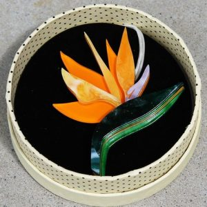 Erstwilder Brooch – Birds of a Feather (Bird of Paradise or Strelizia)