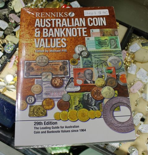 morpeth antique centre hunter valley shop three mandscoinsandbanknotes Australian coin bank note values guide book 29th edition published 2019 renniks