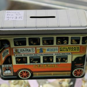 morpeth antique centre hunter valley shop three mandscoinsandbanknotes london bus money box vintage tin bank