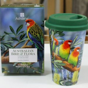 Travel Mug – Eastern Rosella
