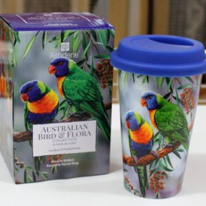 Travel Mug – Rainbow Lorikeets