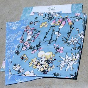 May Gibbs Tea Towel Set of Two – Flower Babies – Blue