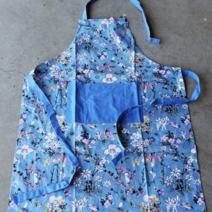 May Gibbs Apron – Flower Babies – Blue