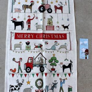 morpeth gift gallery hunter valley australian made rodriquez tea towel country Christmas red tractor designs