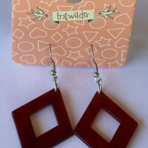 Erstwilder Drop Earrings – Diamond Red