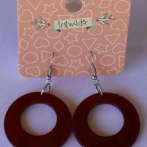 Erstwilder Drop Earrings – Circle Red