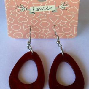 Erstwilder Drop Earrings – Teardrop Red