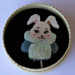 Erstwilder Brooch – Snuggly Buffy Bunny