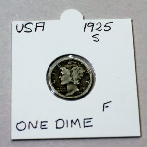 USA Mercury One Dime 1925