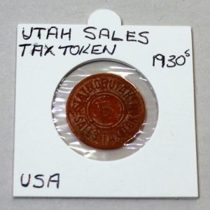 Utah Sales Tax Token – 5