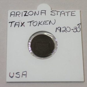 Arizona State Tax Commission Sales Tax Token