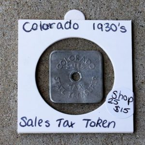 Colorado Sales Tax Token