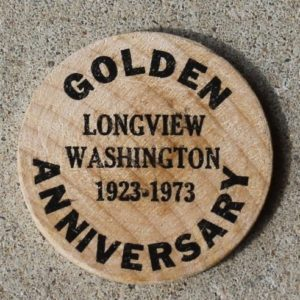 Golden Anniversary, Longview,Washington, USA Token
