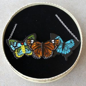 Erstwilder Necklace – Kaleidoscope of Colour (Butterfly Trio)