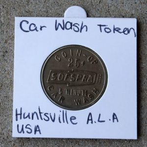 SOFSPRA 5 Minute Car Wash Token 25c