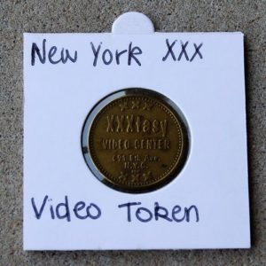 USA New York 'Peepworld' & 'XXXtasy' Video Center Token