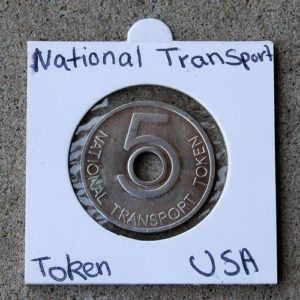 UK National Transport Token – 5 Pence