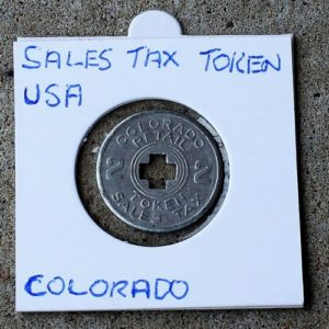 Colorado Retail Sales Tax Token 2