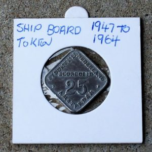 Ships Board Token, Netherlands  Post WWII Era
