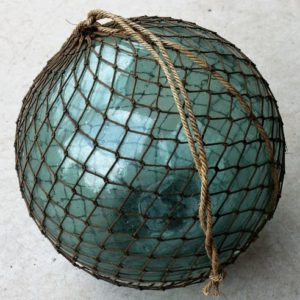 Vintage Glass Fishing Float – twelve inch