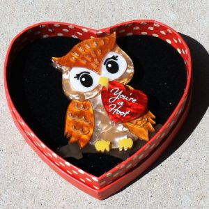morpeth antique centre hunter valley erstwilder brooch earrings necklace you're a hoot owl valentines day 14th february love red roses heart gift sweet retro pinup collectable