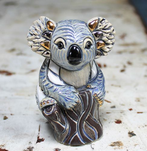 morpeth gift gallery hunter valley rinconada figurine pottery enamel gold uruguay de rosa koala baby collectable