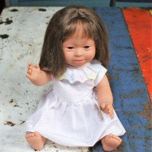 Down Syndrome Girl Doll – Brown Hair – New