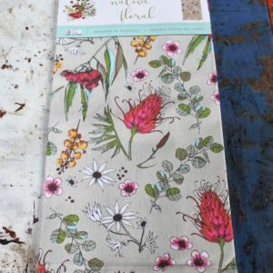 Australian Native Floral Teatowel (all over design)