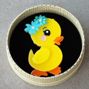 Erstwilder Brooch – Waddlesworth Jr. (Duckling)