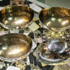 Silver Salt Boat – set of four