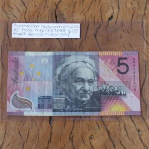 Australian 'Federation' Five Dollar Note