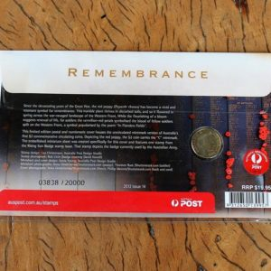 Australian Remembrance Two Dollar Coin
