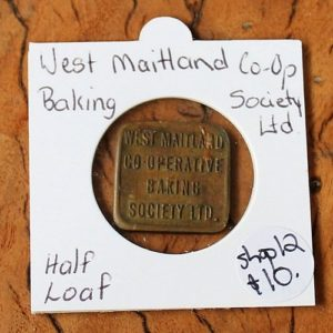 West Maitland Co-Op Society Baking Token