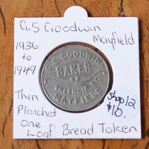 G.S Goodwin Mayfield Bread Token – Thin Planchet