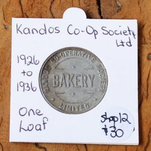 Kandos Co-Op Society Limited Bread Token