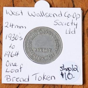 West Wallsend Co-Op Bread Token – 24mm