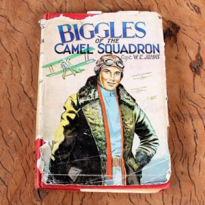 morpeth antique centre hunter valley biggles of the camel squadron book novel raf wwI wwII captain w.e. johns hardcover dust jacket